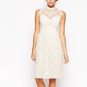 ASOS Midi Sleeveles Dress Organza with High Neck